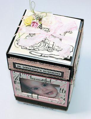 """Челлендж-блог """"Сова-Искусница"""": Вдохновение. Альбомчик в форме MagicBox от Яны Новиковой"""