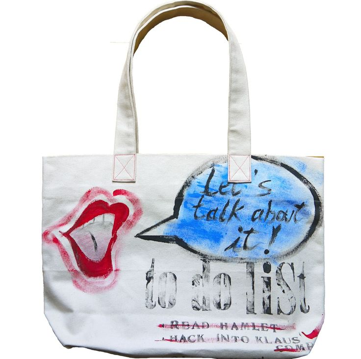 COTTON BAG Let's talk http://www.ambientarse.com/taschen/cotton-bag.html