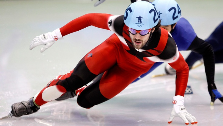Charles Hamelin won a gold medal in short track speeding skating at the 2010 Vancouver Olympics.
