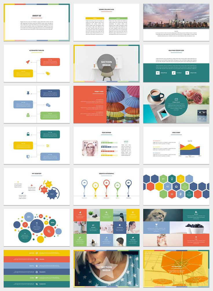 Spectrum PowerPoint Template by SlideStation on @creativemarket