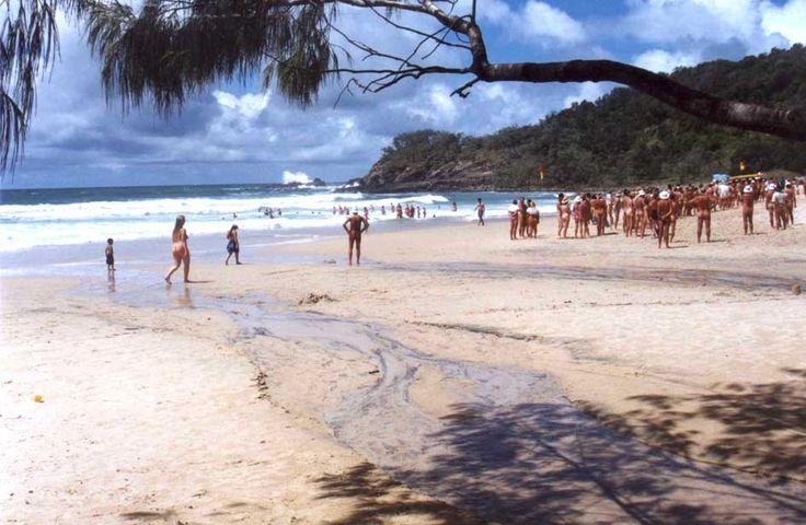 Nudists at Noosa.