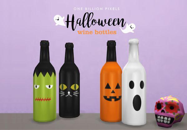 Halloween Wine Bottles (The Sims 4) - One Billion Pixels