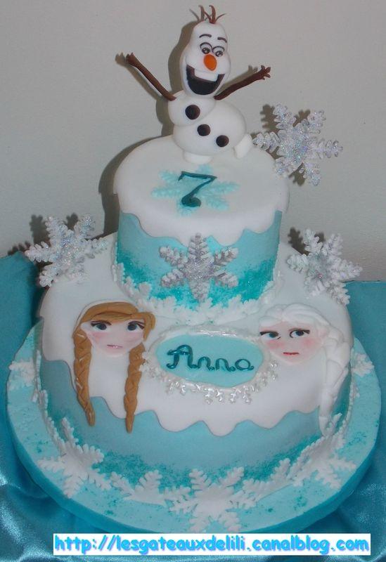 Gâteau la Reine des Neiges - 1er février 2014