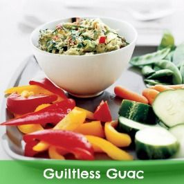 Ready to make dip for Game Day? Slash classic guacamole's calories by 40% with this healthy white-bean recipe. #myplate #superbowl