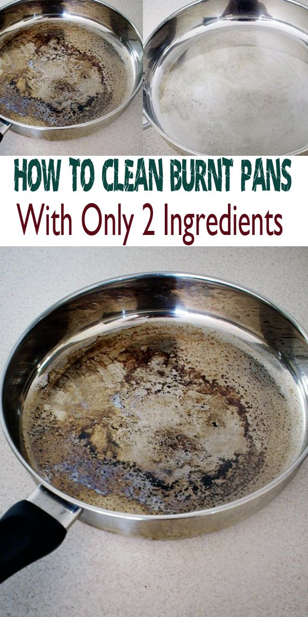How to clean burnt pans with only 2 ingredients ==
