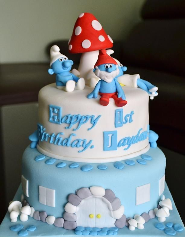 The Cake Cakes 187 The Smurfs Cake Cakes Pinterest