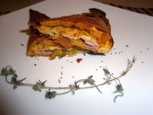 Triangoli di pasta fillo con scamorza e praga - Wrapp of phyllo dough with praga,cheese and peach  http://arrangerchef.com/?page_id=1208