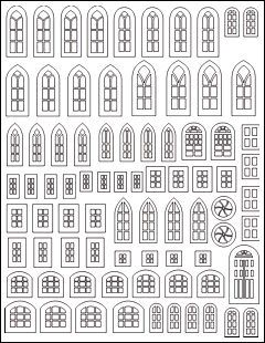 Templates for Putz Houses | ... Your Electronic Craftcutter to Make Your Own Putz House Windowframes