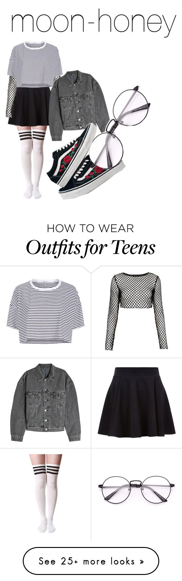 """Idk"" by moon-honey on Polyvore featuring Motel, T By Alexander Wang, Yeezy by Kanye West and Vans"