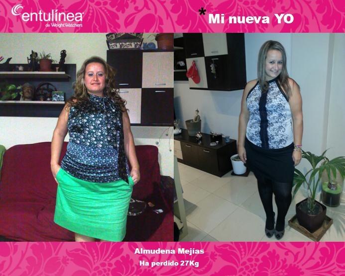 El adelgazamiento sobre la comba los resultados de la foto antes y después