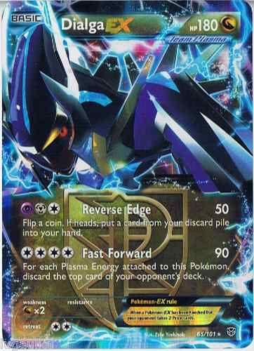 Pokemon Card Plasma Blast Rare Holo Dialga EX 65/101 FREE COMB S