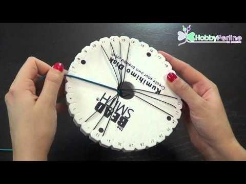 Treccia Twist Kumihimo | Tecnica - HobbyPerline.com - YouTube (Italian)