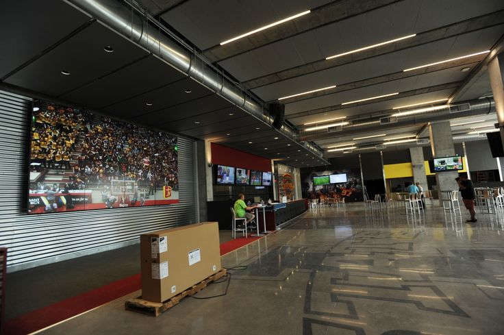 The Sukup South End Zone Club has two floors and will open for the first Iowa State football game on Sept. 5. Photo by Nirmalendu Majumdar/Ames Tribune   http://amestrib.com/sports/football-jack-trice-expansion-complete-opener