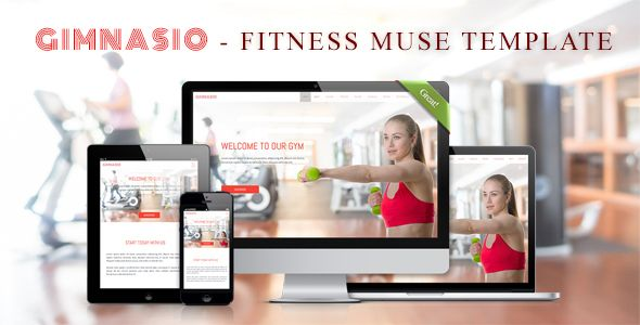 GIMNASIO - Fitness Adobe Muse Template . GIMNASIO is a Adobe Muse Landing Template for individuals or companies, which need a web template to promote and introduce their Fitness activities. GIMNASIO  template is designed with simple, clean, modern and unique