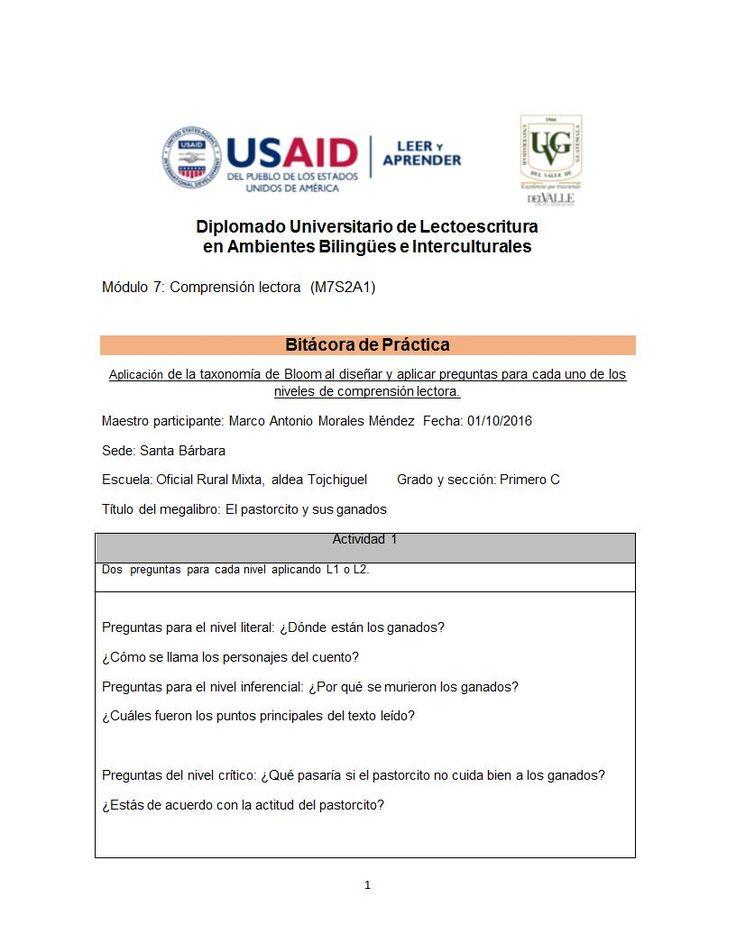 M7S2A1-Bitácora de práctica - Preguntas para niveles de comprensión lectora(6).docx