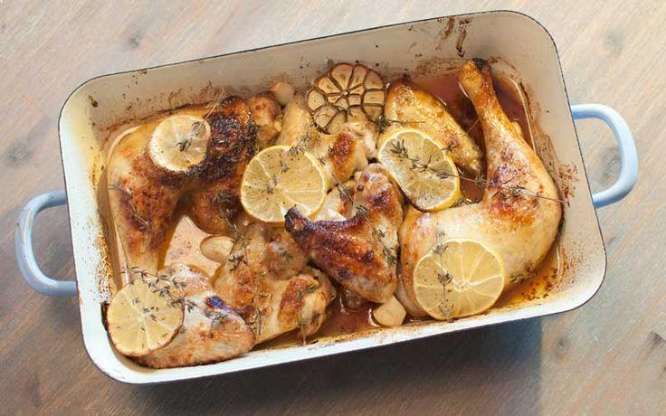 Recept: Kip uit de oven met citroen en tijm