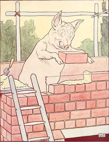 Three Little pigs brick house