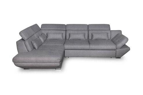 UsineStreet Canapé convertible avec tiroir tissu gris foncé bali - angle - gauche