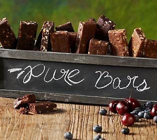 Pure Organic Bars - gluten free, raw, and vegan. Lots of protein, fiber, and antioxidants!