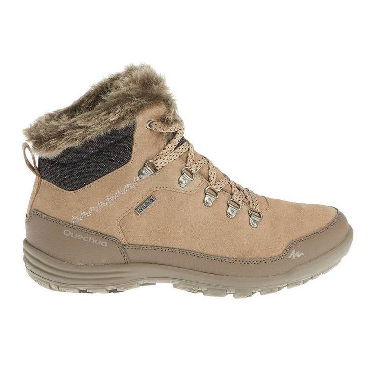 Deportes de Montaña Calzado - BOTAS ARP500 WARM WTP L Beige QUECHUA - Mujer
