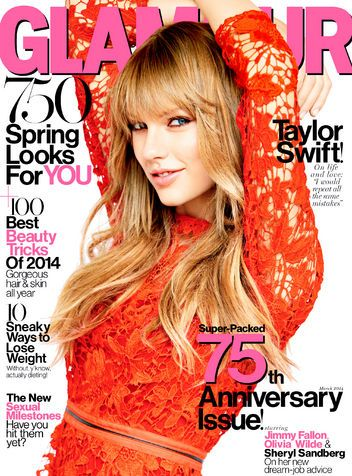 Be sure to catch Taylor Swift on the cover of Glamour Magazine's March 2014 Issue! Click on the image for a sneak peak of the interview, she has dating tips.