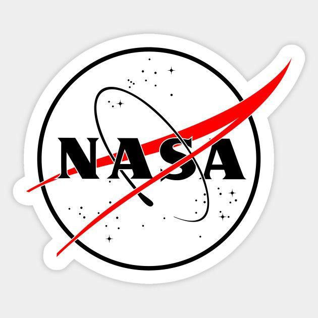 NASA lineal logo (black & red) | Estampas, Patch, Desenho ...