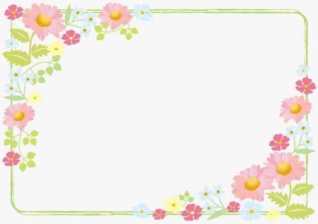 Pink Flower Border Flower Border Png Doodle Frames Pink Flowers