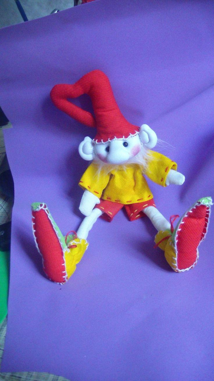 Muñecos Soft....duende navidad facil  1/2 ....proyecto 43