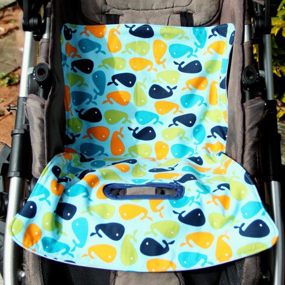 Whales Splash  No More Mess Toilet Training Liner by OneCrazyMumma