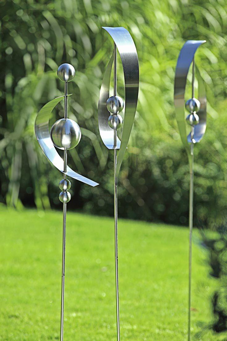 Moderne Stabe Aus Edelstahl Edelstahl Metall Gartenskulpturen Gartendeko Metall