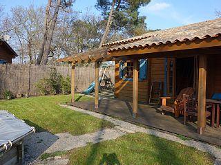 log huis 6-8 personen comfortabel met zwembad, wifi, stranden 4. 5 km