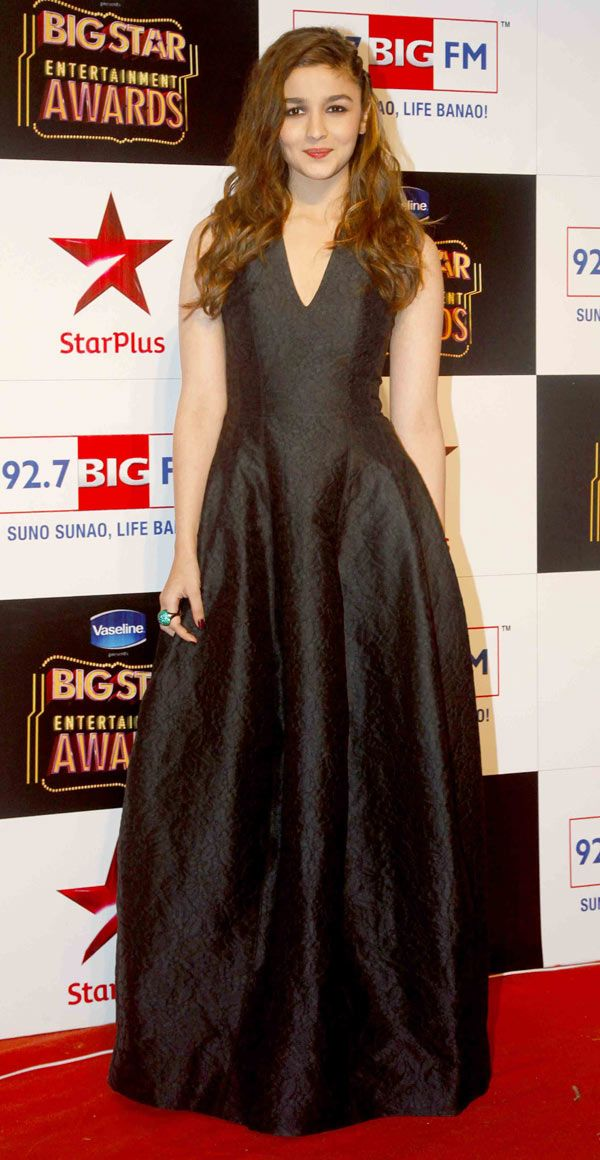 Alia Bhatt at the Big Star Entertainment Awards 2014