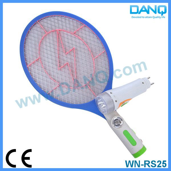 Three layers rechargeable mosquito killer machine, bug zapper, mosquito swatter, mosquito racket with CE-EMC
