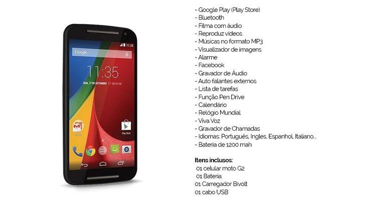Celular Smartphone Moto G 2 Chips Wifi 3g Android 4 X-phone - R$ 219,00 em Mercado Livre