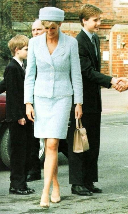 March 9, 1997: Prince William, Prince Harry, Prince Charles & Princess Diana arrive at Windsor Castle for Prince William's confirmation into the Church of England in Windsor, England.