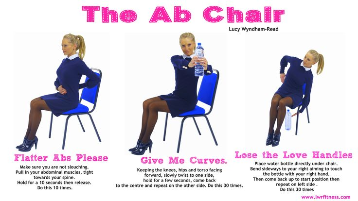 Turn your office chair into an Ab Toning Chair and do this 3 move workout in between emails Health Pinterest