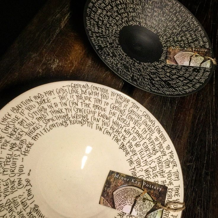 A beautiful wedding gift or something special for an anniversary! Custom lyric or poem. Made to order! Minor Key Pottery