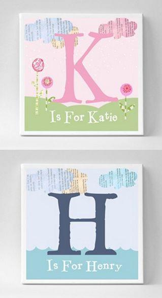 Personalized nursery artwork
