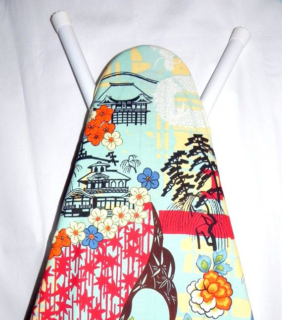 Ironing Board Cover  Koto Asian Print fabric by by GaranceCouture