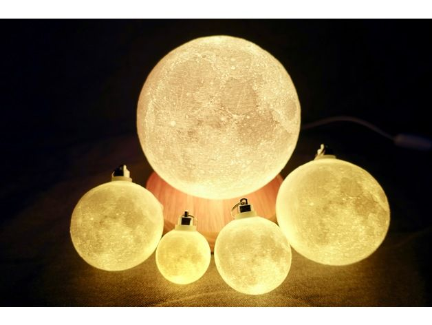 This Is The Highest Detail Moon Lamp You Can Find On The Web All Stl Is Generated From 23k Moon Bump Map Moon Color Map This Moon Model Lamp