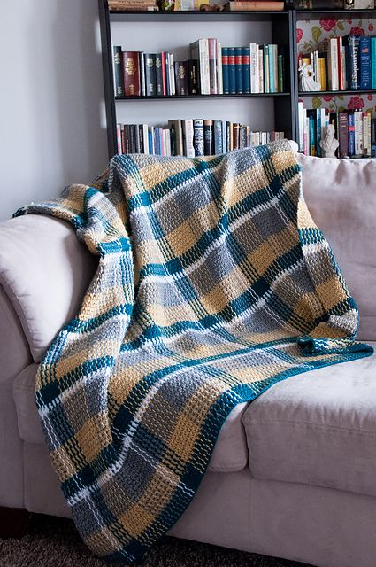 Ravelry: TheHue's Event Plaid.. a free pattern..
