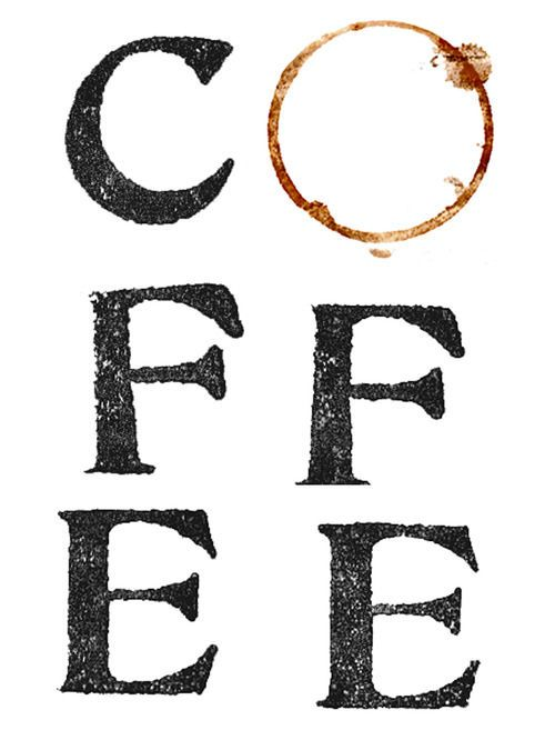 A creative piece of lettering. All you need is a cup of coffee!!
