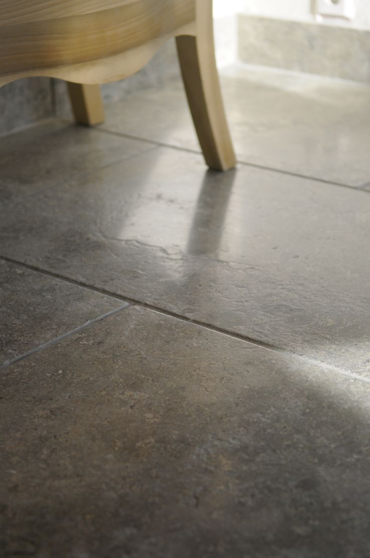 grey limestone floor with antique look