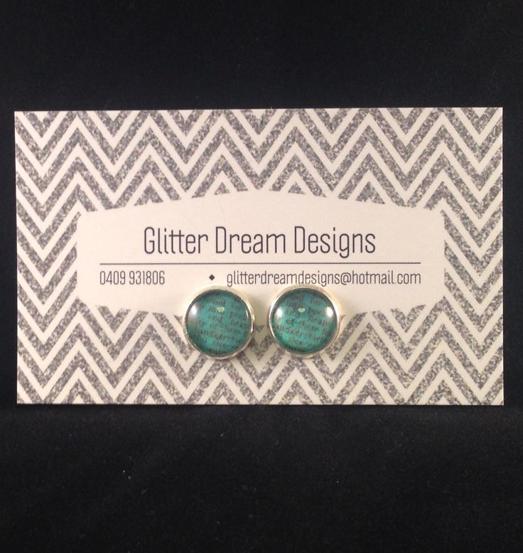 Order Code D19 Green Cabochon Earrings
