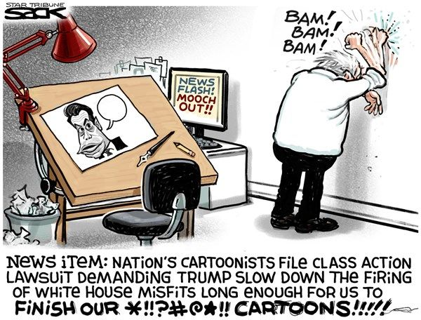 Image result for funniest political cartoons kelly fired the mooch fired
