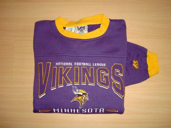 Vintage Vikings Minnesota NFL Sweatshirt jacket от DelicateRetro
