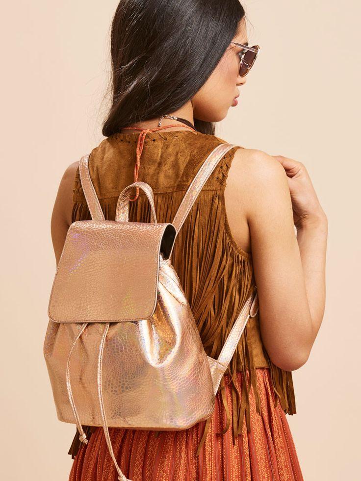 Skinnydip Rose Gold Backpack