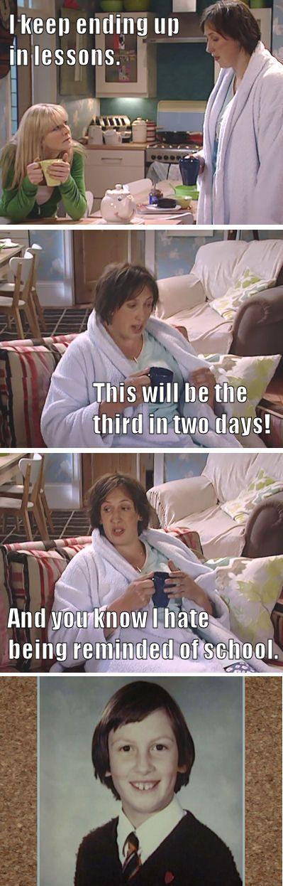 """I keep ending up in lessons"" - Miranda Hart, Series 1"