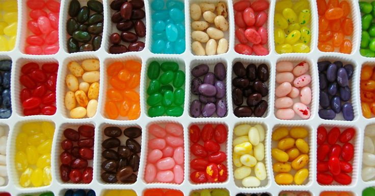 Unusually delicious combinations of Jelly Bellys.