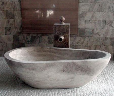 Shop For The WS Bath Collections Piedra Pavo Beige Travertine Beige  Travertine Free Standing Soaking Tub In Natural Stone From The Piedra ...